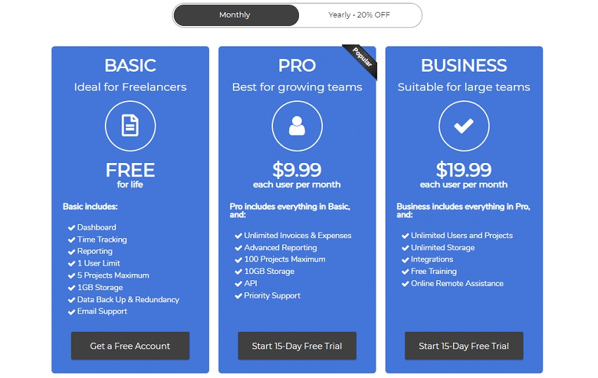 Timelo Free Basic Plan