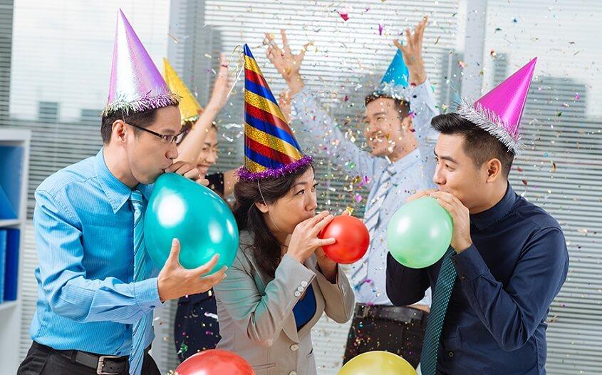 Celebration in office